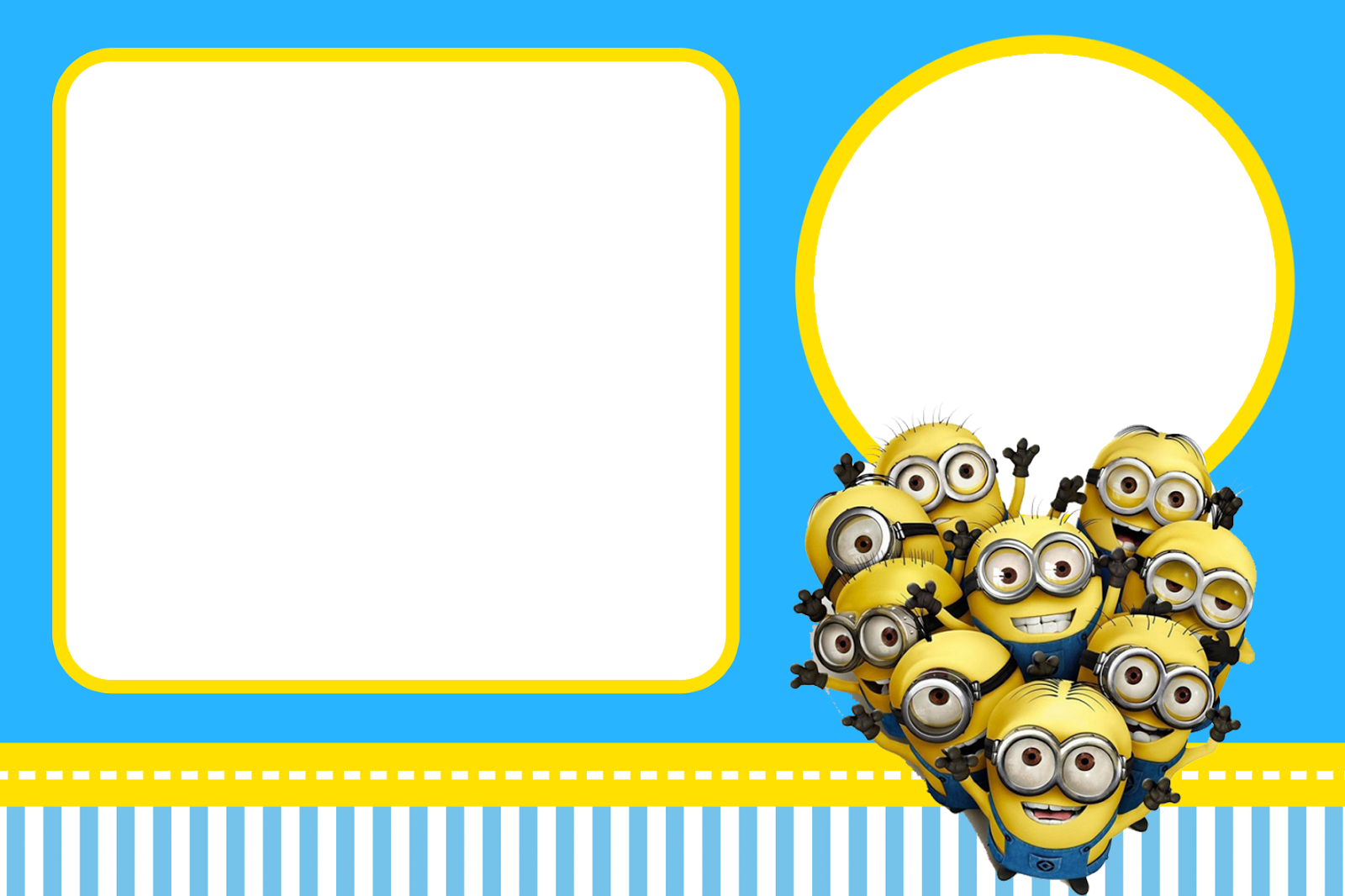 Convite png favorite places. Minion clipart frame