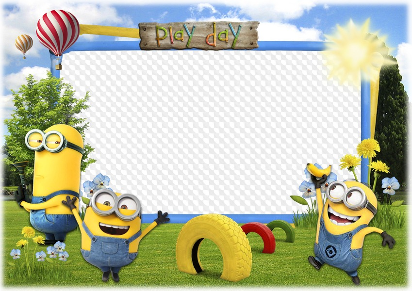 Play day with the. Minion clipart frame
