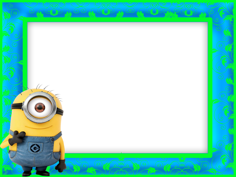 Minion clipart frame. Marcos para photoshop y