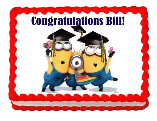 Despicable me party edible. Minions clipart graduation
