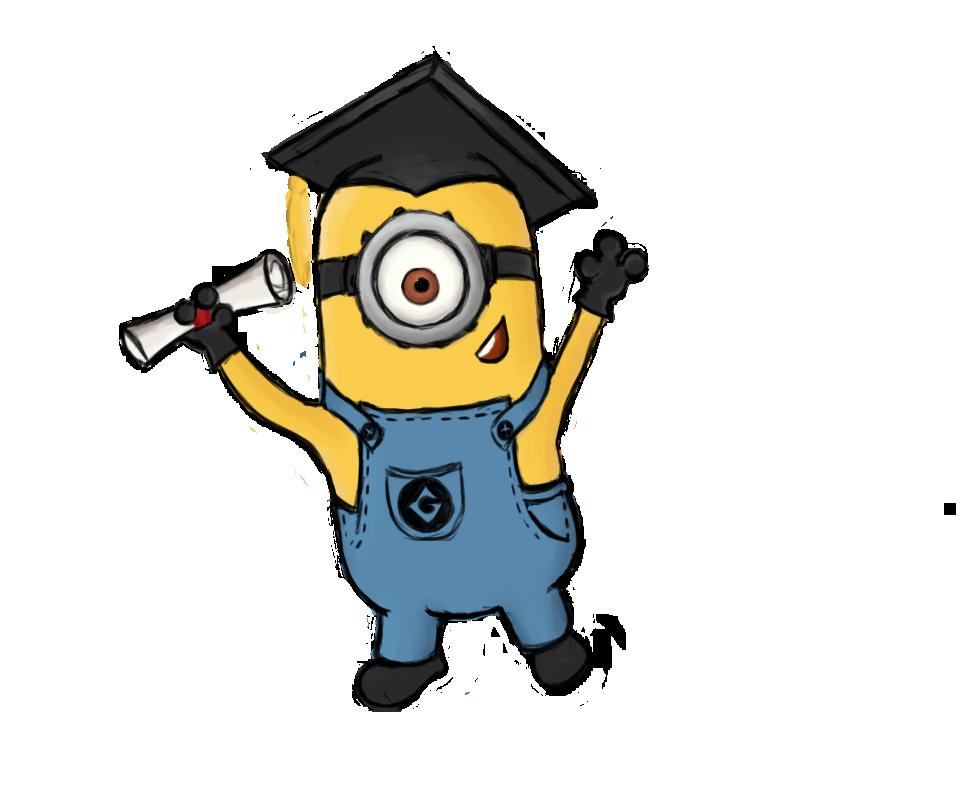 Graduating minion by celalemos. Minions clipart graduation