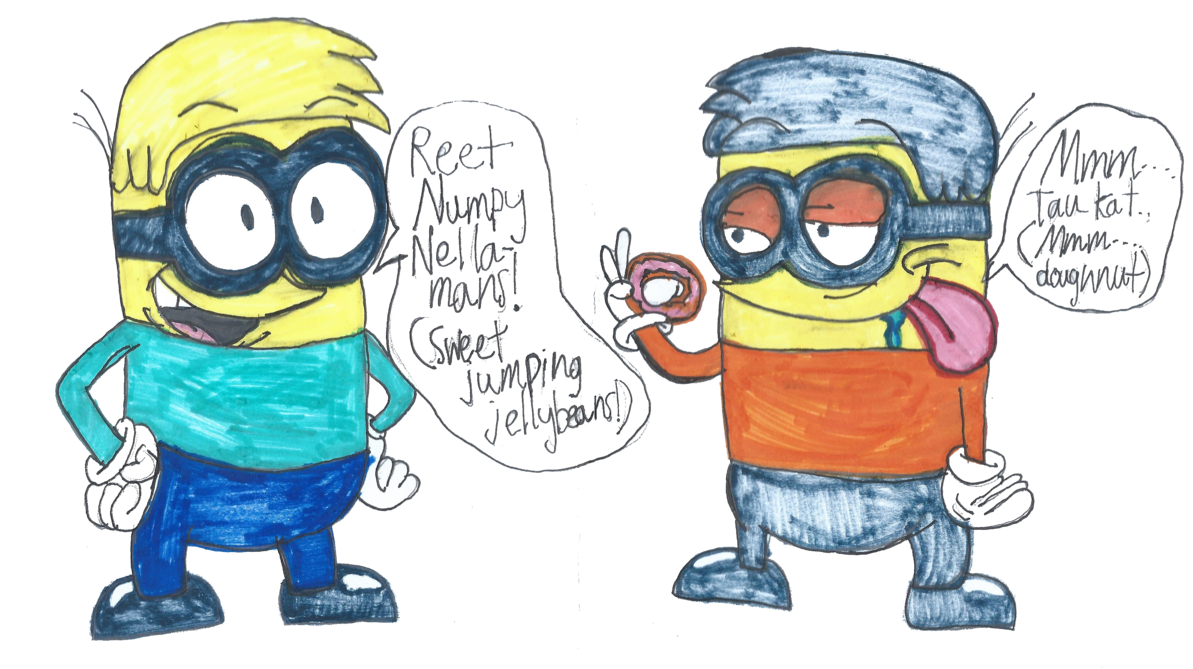Why would you want. Minions clipart jumping