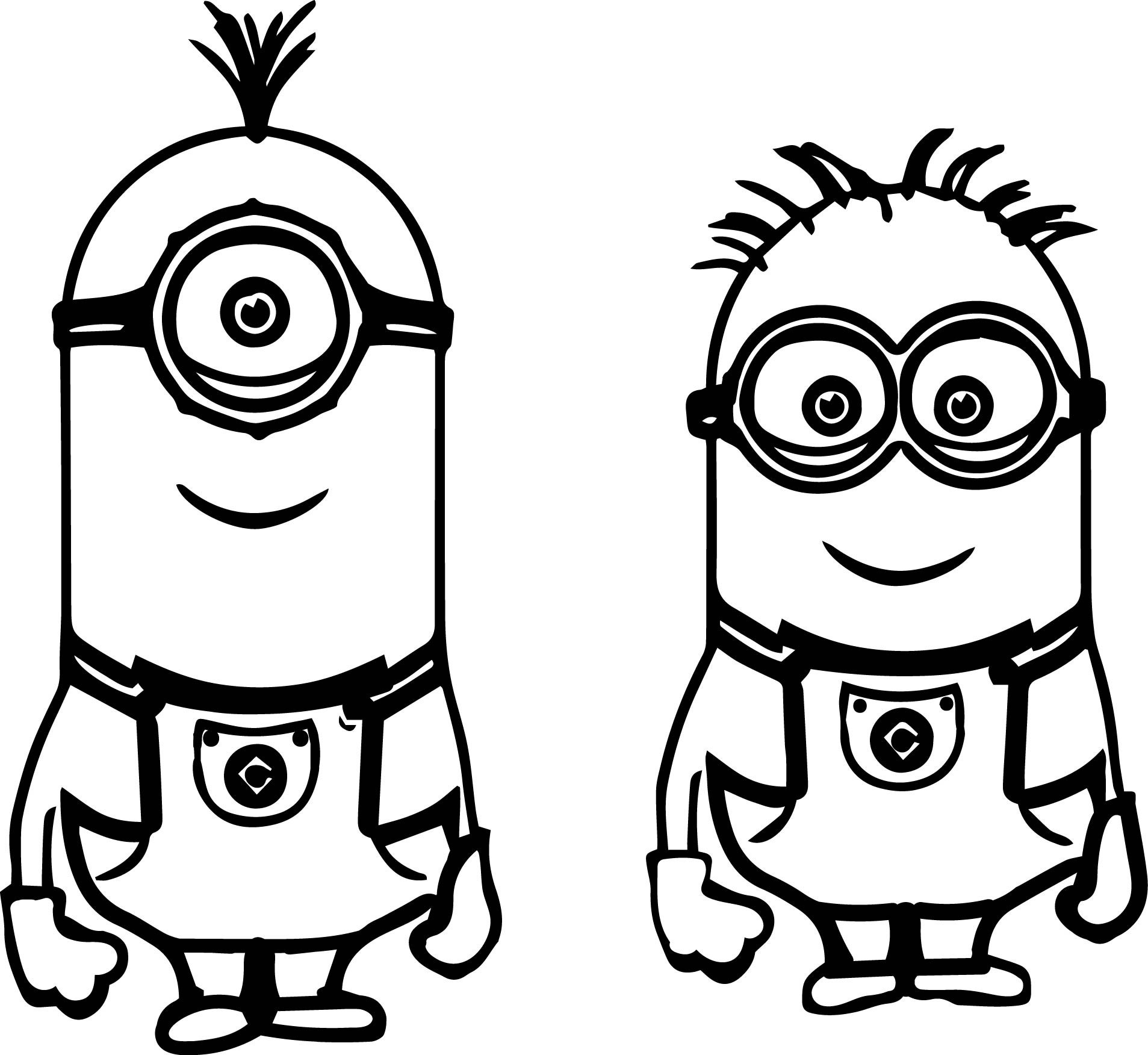 Minion drawing at paintingvalley. Minions clipart outline