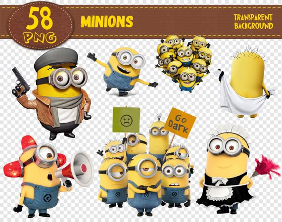 Minions clipart print. Characters png printable