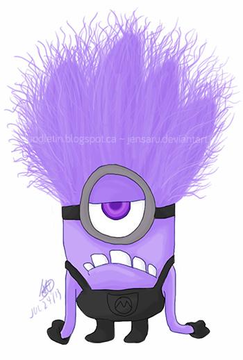Gclipart com . Minion clipart purple minion