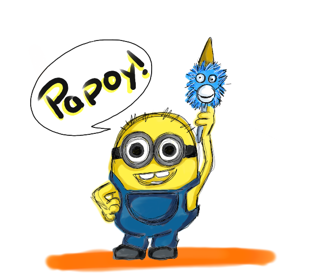 Minions clipart row. Papoy or pepete by
