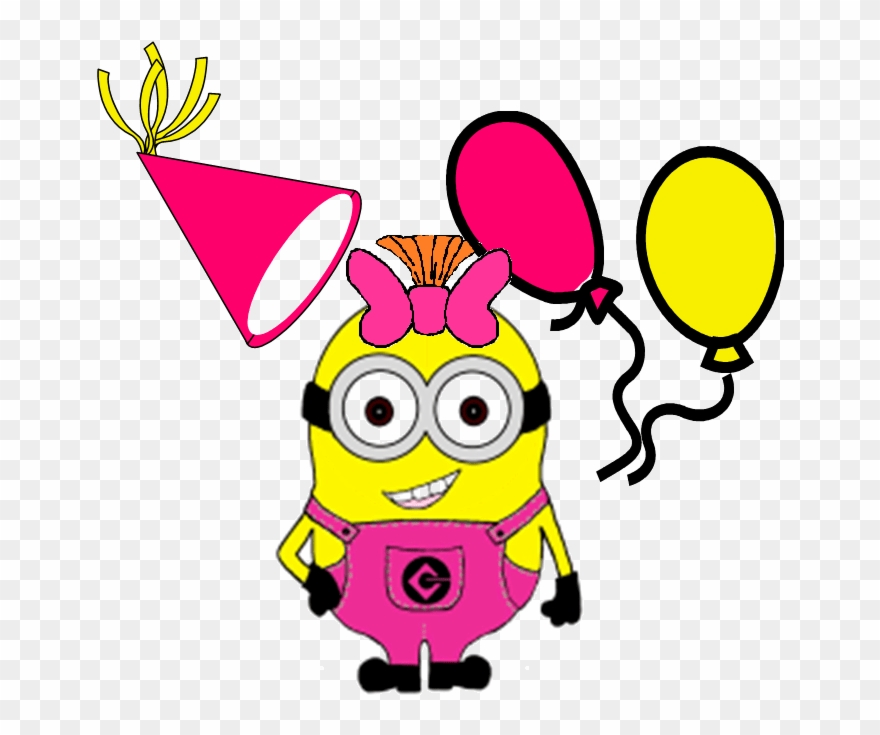 Birthday party by ronald. Minion clipart six