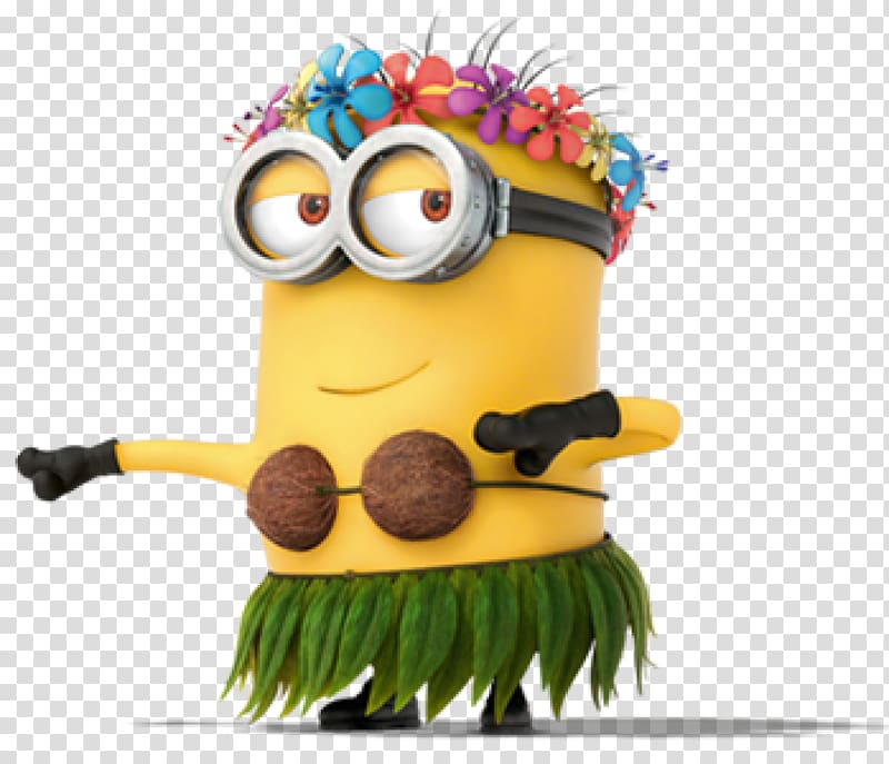 Minion wearing leaf and. Minions clipart summer