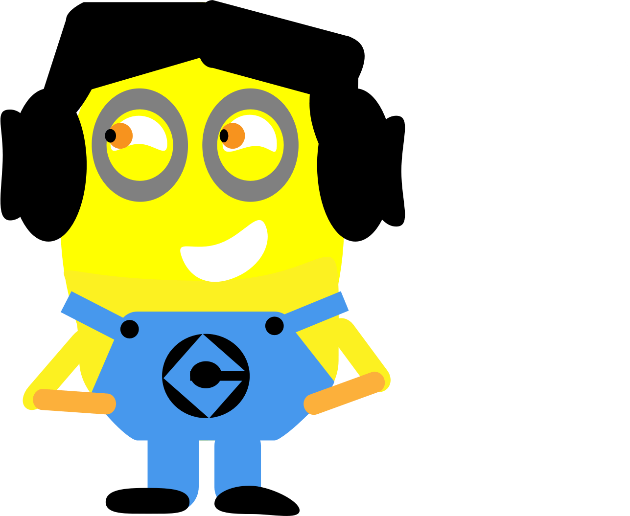 Number 3 clipart minion. Girl at getdrawings com