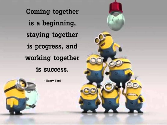 Are in this together. Minions clipart teamwork