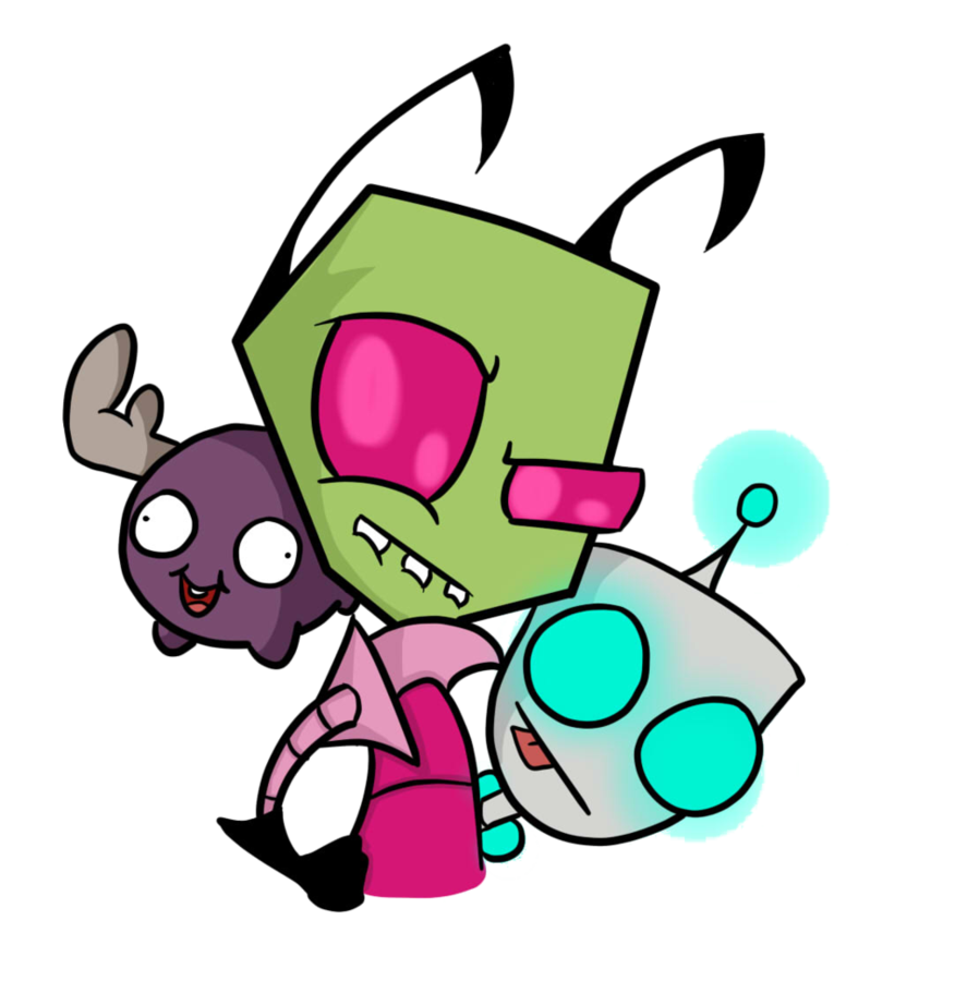 Minions clipart evil. Invader zim and his