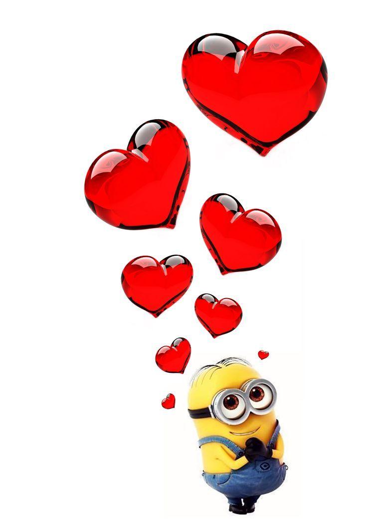 Minions clipart heart. Free minion cliparts download