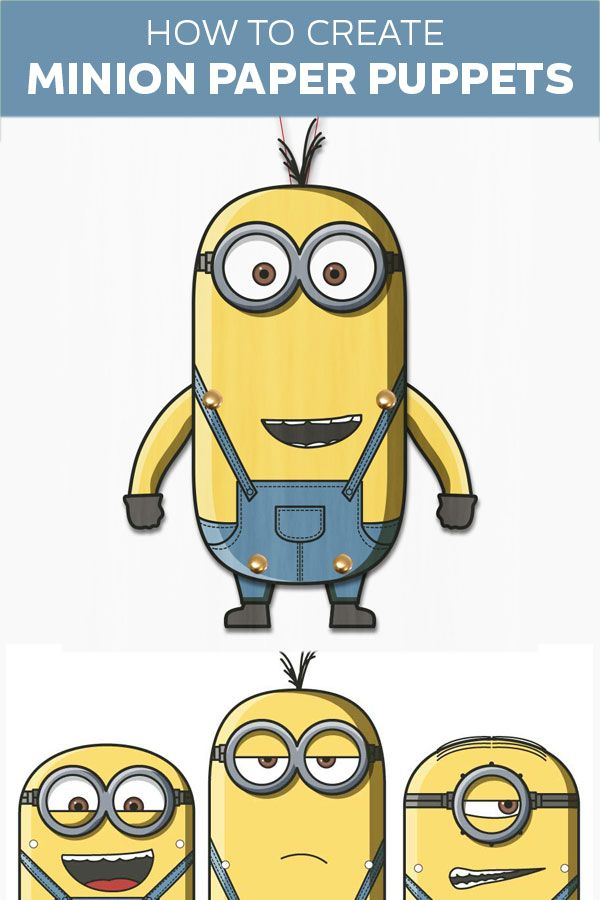 Minions clipart jumping. Paper puppets great fun