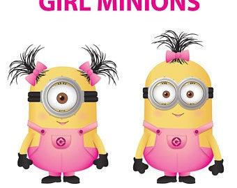 Minion svg etsy . Minions clipart pink dress