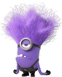 Make a evil costume. Minions clipart purple minion