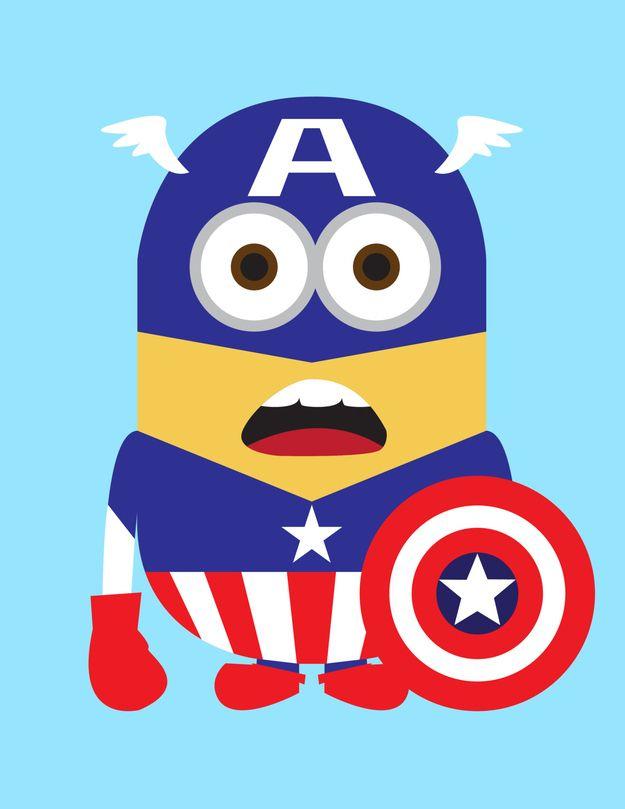 Despicable me as superheroes. Minions clipart superhero