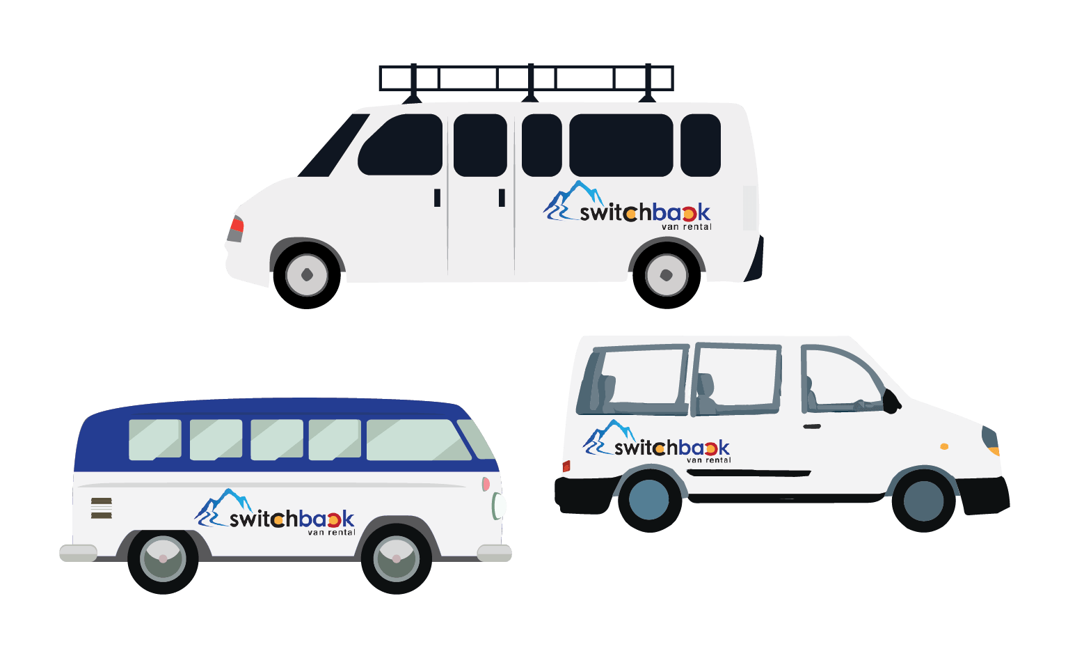 Switchback suv and car. Minivan clipart 15 passenger van