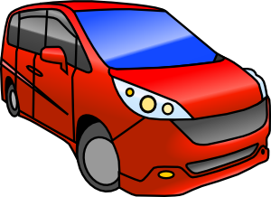 Clip art at clker. Minivan clipart