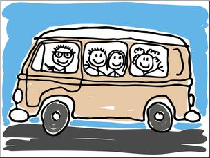 Minivan clipart. Clip art cute color