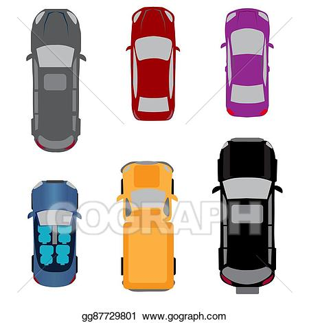 Vector art set of. Minivan clipart above