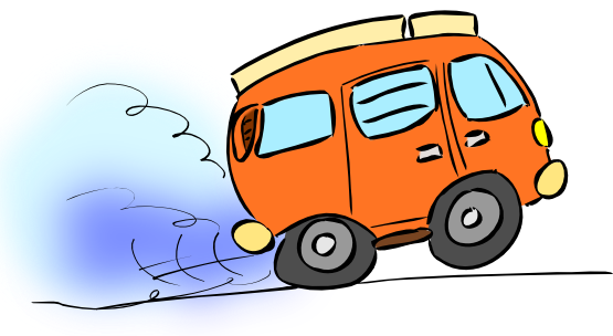 Minivan clipart animated. Free van cliparts cartoon