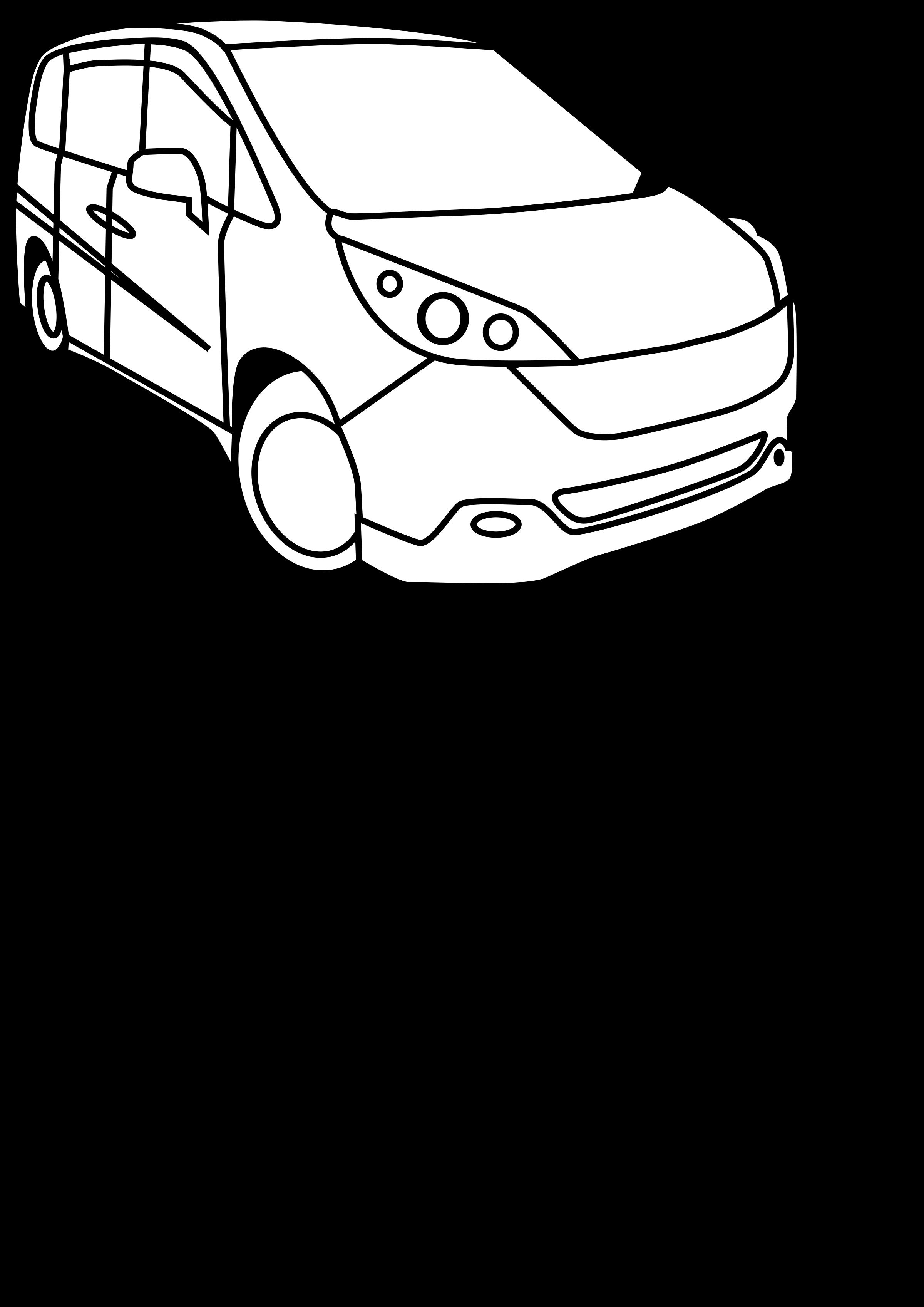 minivan clipart big car