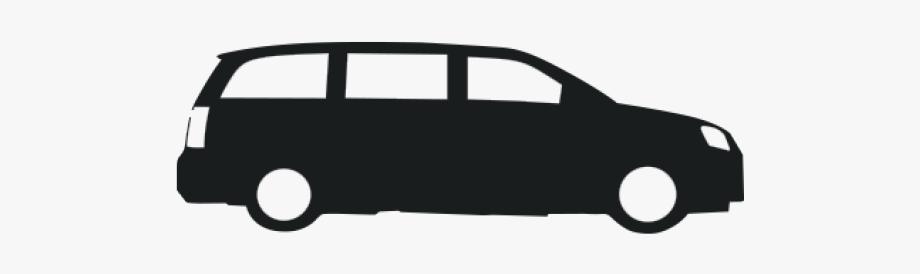 Black and white transparent. Minivan clipart big car