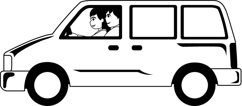 Free mini van cliparts. Minivan clipart black and white