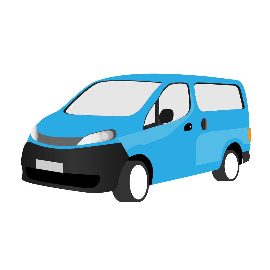 Minivan clipart blue minivan. Van free download best
