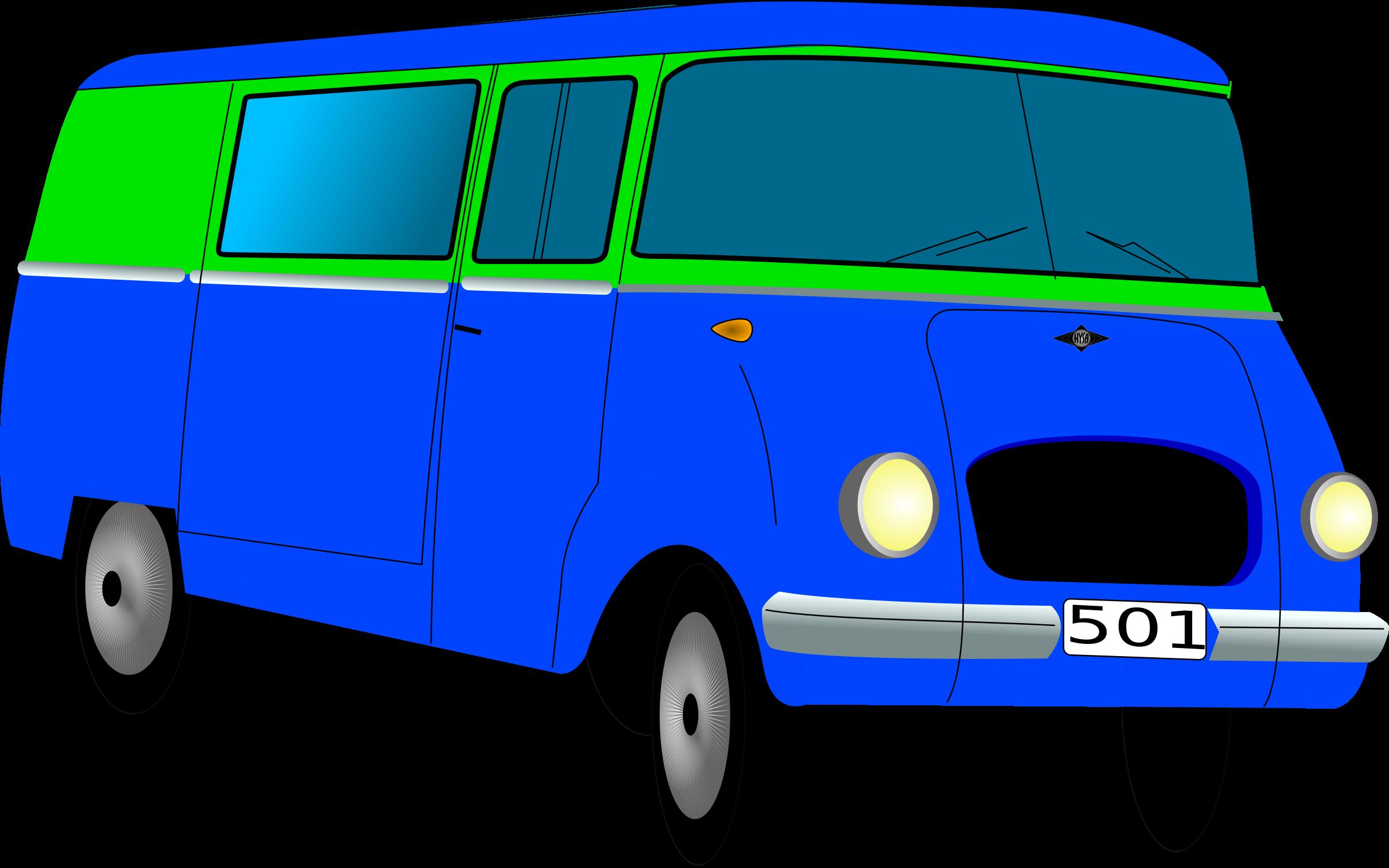 Minivan clipart bus vw. Nysa towos