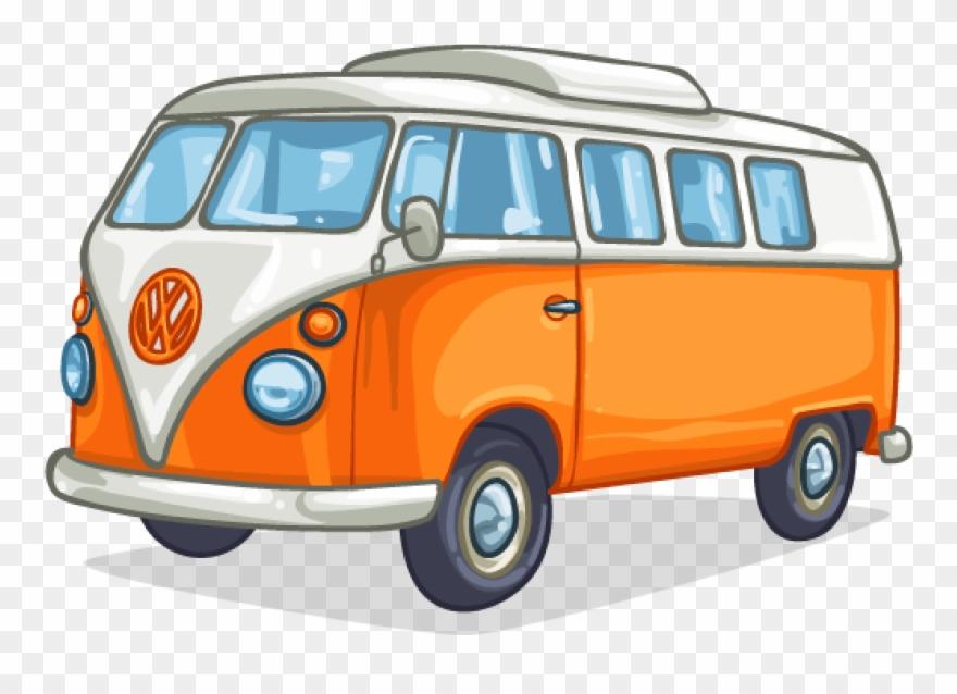 Minivan clipart bus vw. Art camper van cartoon