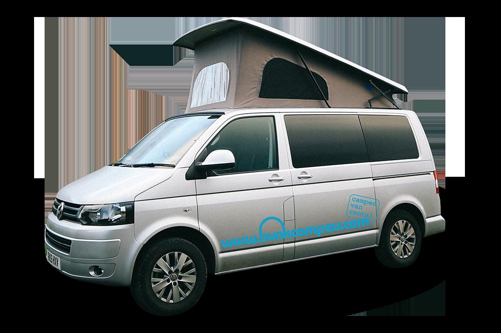 Minivan clipart campervan. Bunk campers hire uk