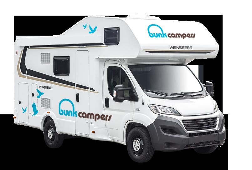 Bunk campers person motorhome. Minivan clipart campervan
