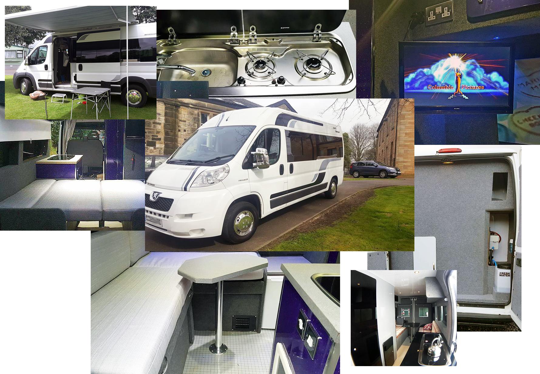 Minivan clipart campervan. Bespoke campervans ayrshire camper