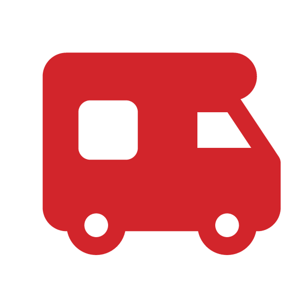 Leading motorhome rental company. Minivan clipart campervan