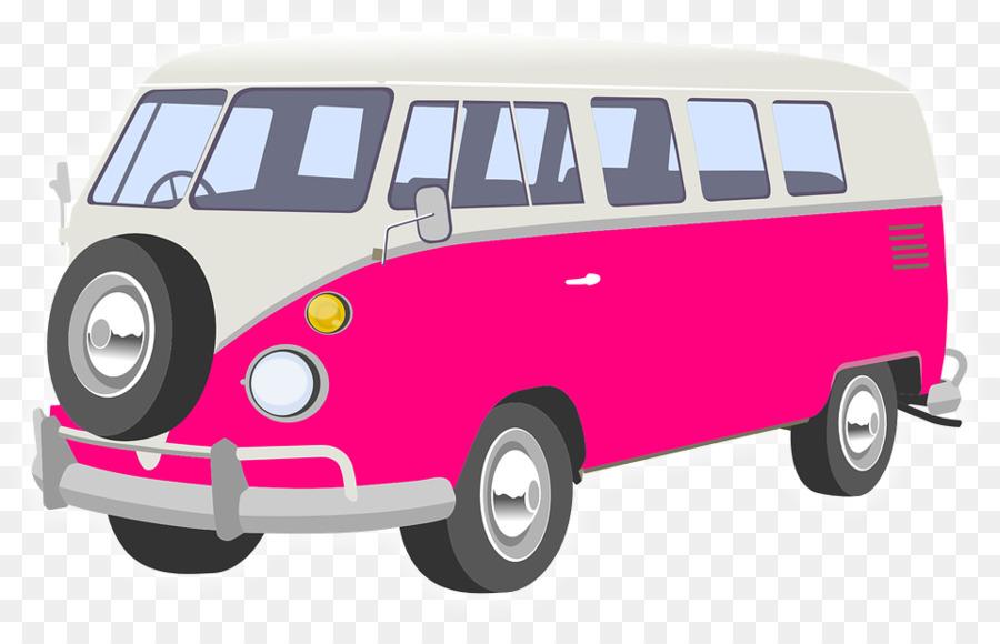 Vintage background van car. Minivan clipart campervan