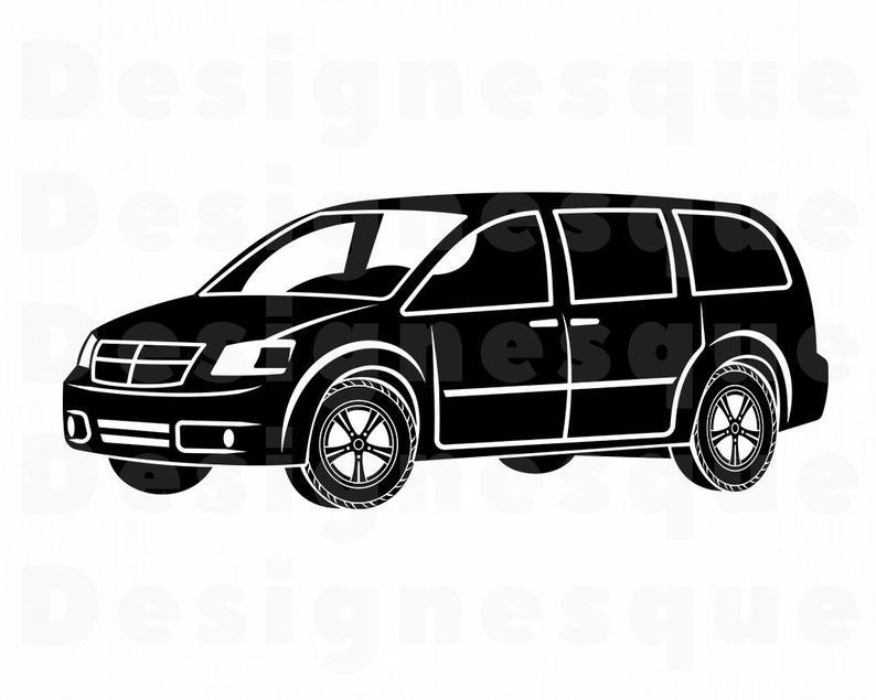 Svg family files for. Minivan clipart car cute