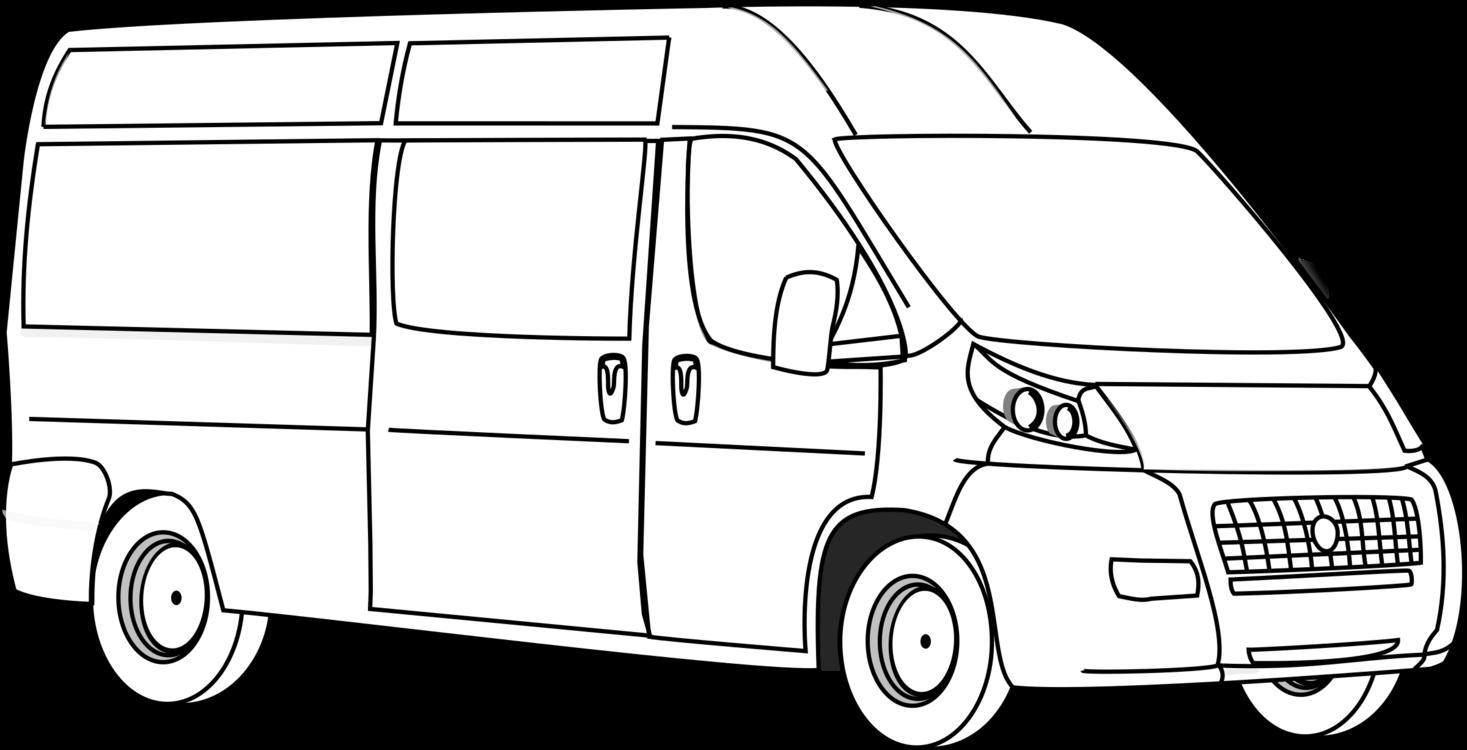 Minivan clipart car line. Model transport png royalty