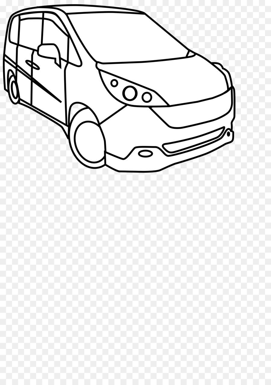 Cartoon van transparent clip. Minivan clipart car line