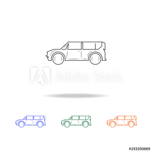 Minivan clipart car line. Icon types of cars