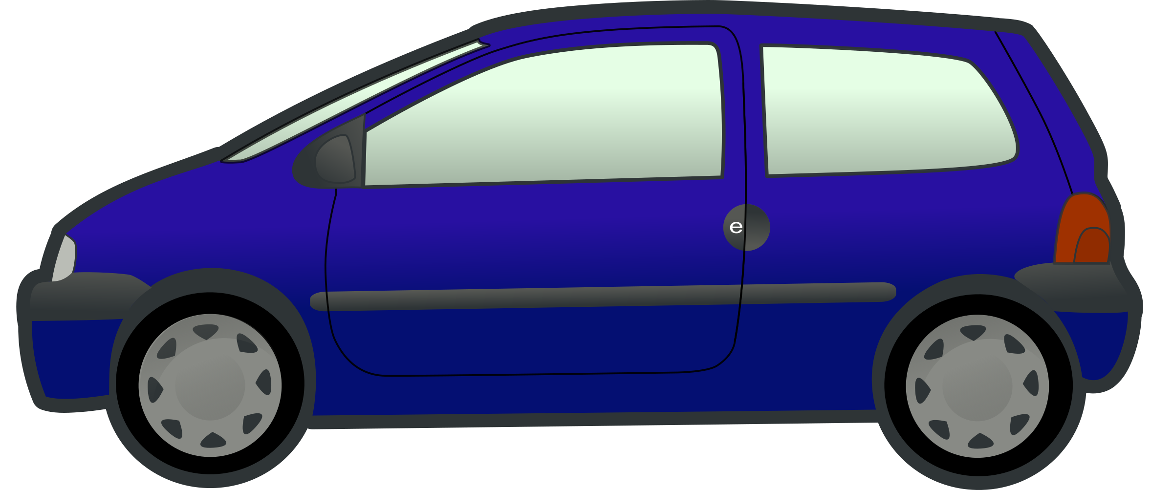 collection of blue. Minivan clipart clip art