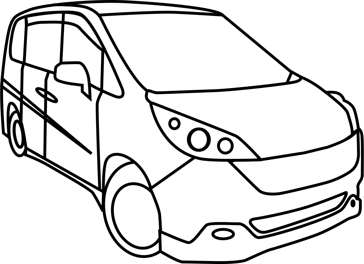 Drawing at getdrawings com. Minivan clipart dog