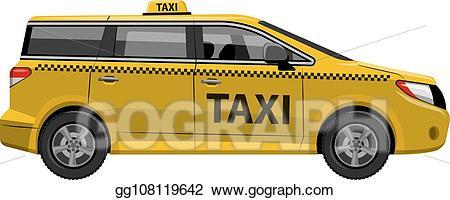 Minivan clipart driver van. Vector taxi car auto