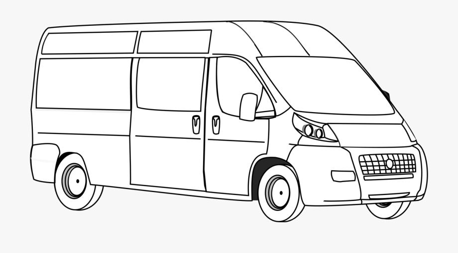 Drawing cliparts . Minivan clipart driver van