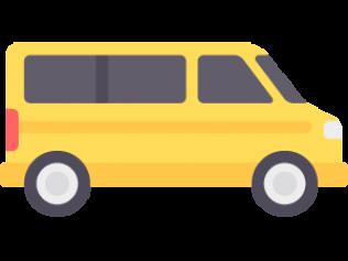 Car rental agency rochester. Minivan clipart drop off