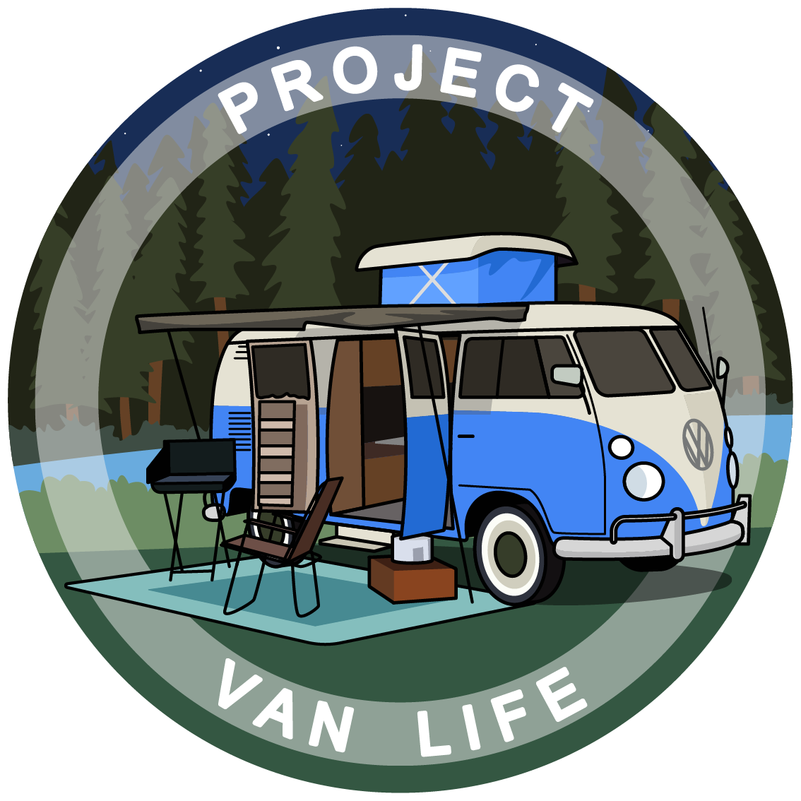 Minivan clipart family camp. Van life forum projectvanlife