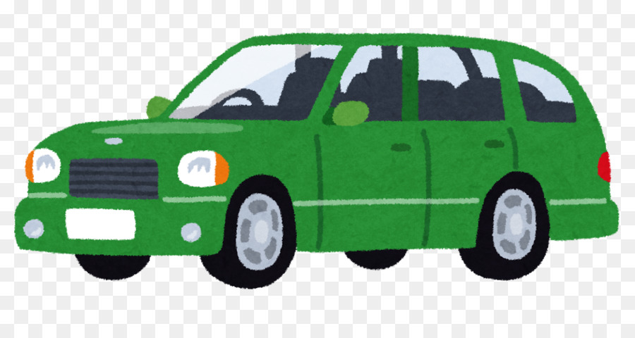 Minivan clipart green car. City background transparent