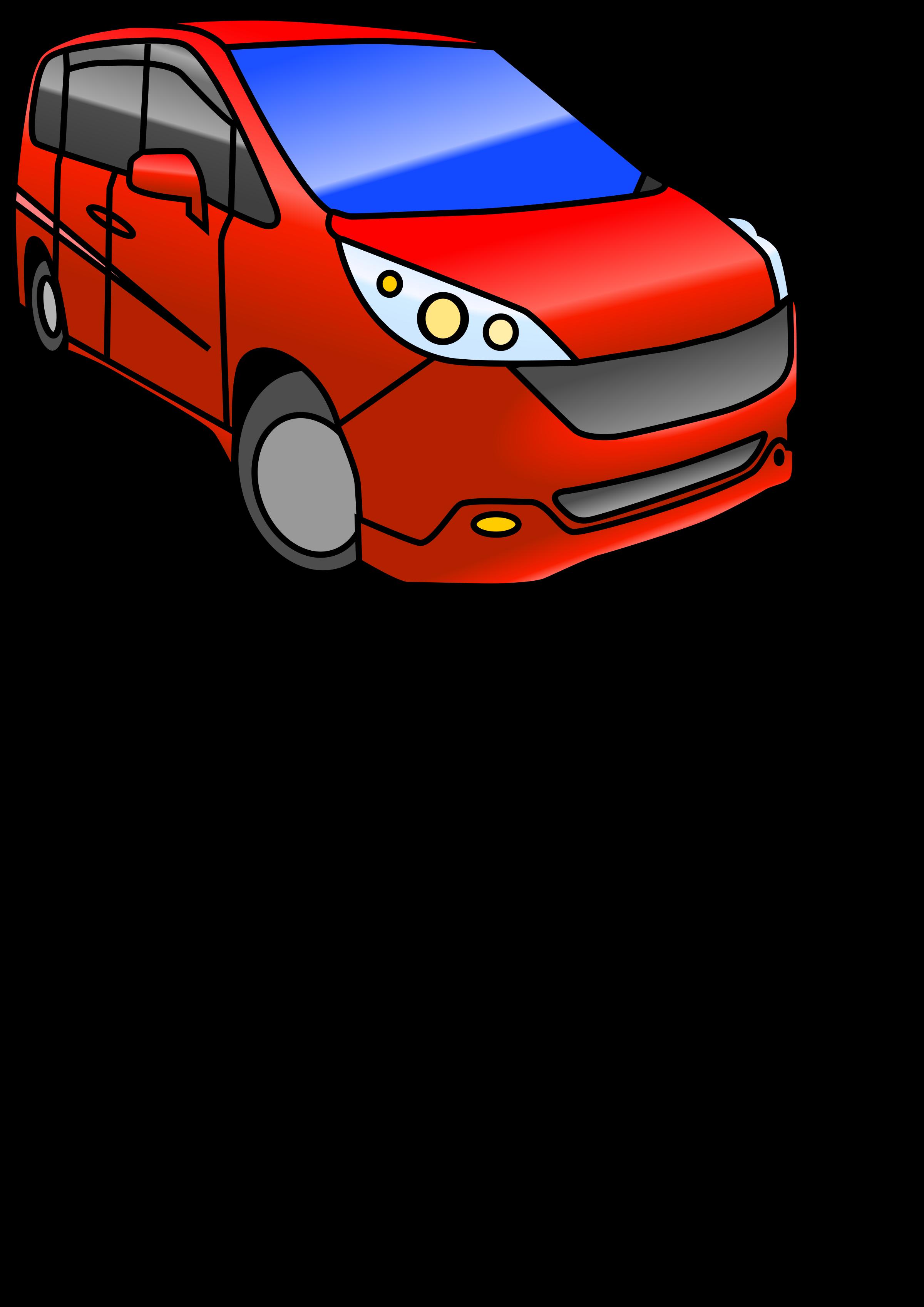 Minivan clipart hatchback. Automobile color big image