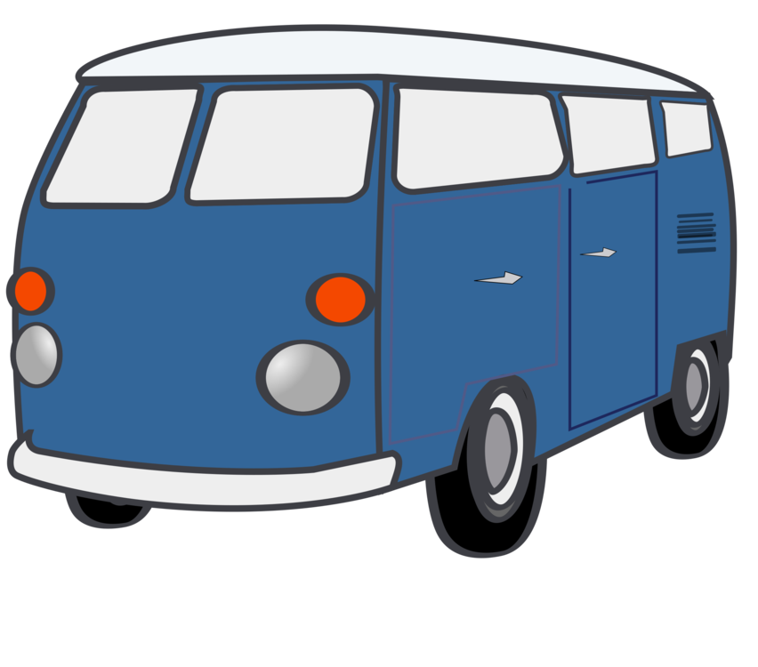 Van model car compact. Minivan clipart kid