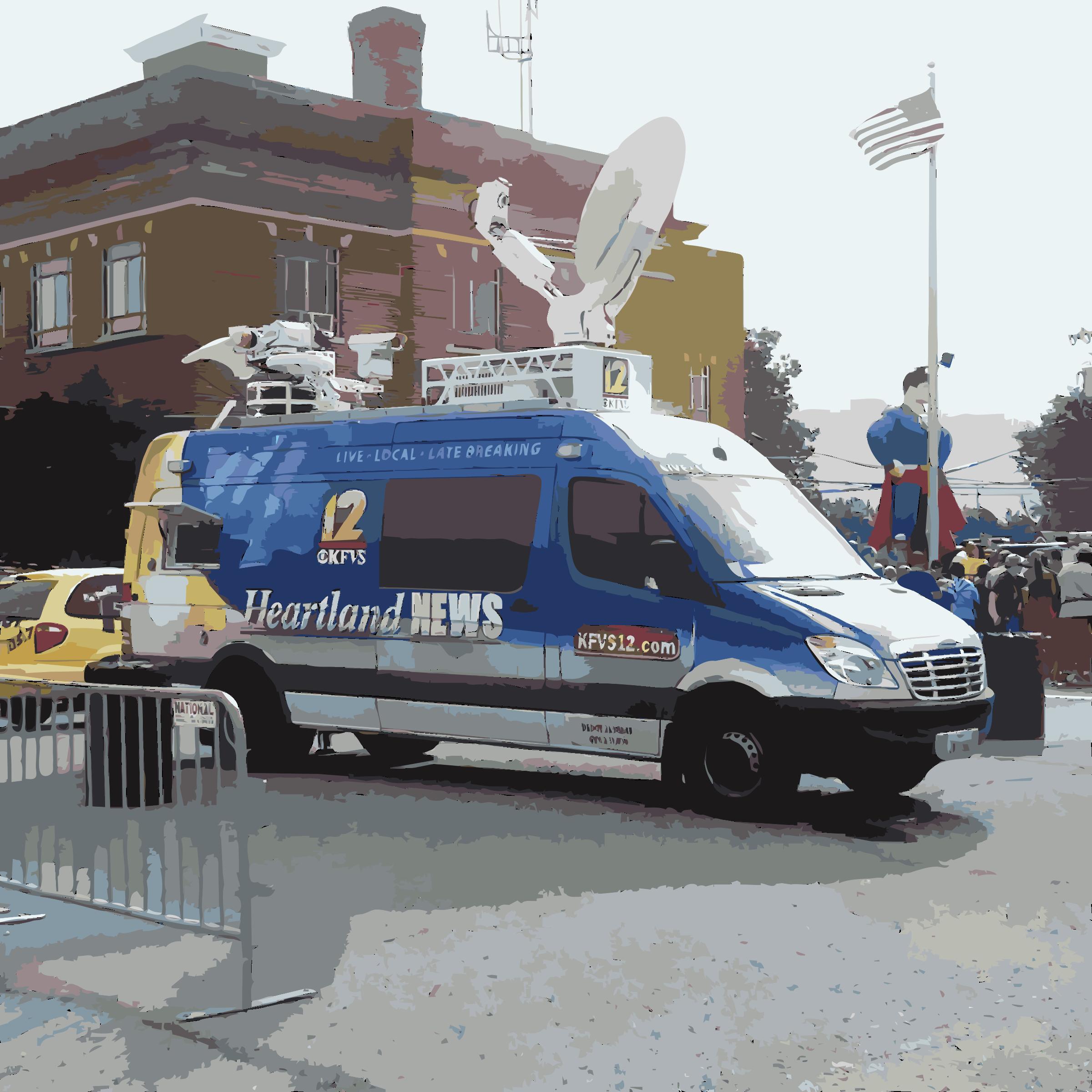 News van. Minivan clipart land transportation